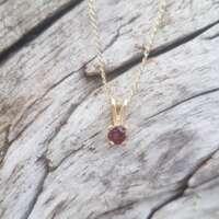 Glenshiel Garnet Gold Pendant thumbnail