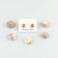 Sterling Silver Real Shell Earrings thumbnail