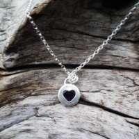 Amethyst Silver Heart Necklace thumbnail