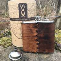 Leather Bound Hip Flask Gift Set thumbnail