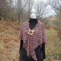 Purply Pink Crochet Shawl thumbnail