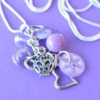 Lilac Teapot Cluster Button Pendant thumbnail