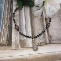 Silver Celtic Necklace with Smokey Quartz thumbnail