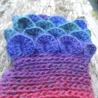 Bright Rainbow Crochet Fingerless Gloves thumbnail