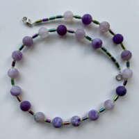 Purple Agate Necklace thumbnail