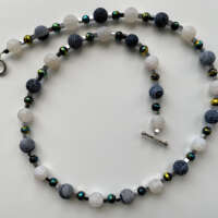 Black and White Agate Necklace thumbnail