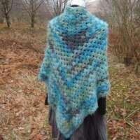 Blue Lightweight Soft Shawl thumbnail
