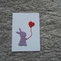 Purple Crochet Bunny Card thumbnail