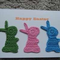 Crochet Bunnies Happy Easter Card GPB thumbnail
