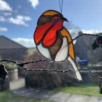 Stained Glass Robin Suncatcher thumbnail