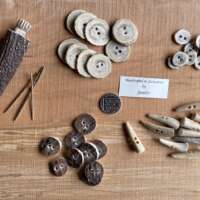 Large Round Antler Buttons - Sectional thumbnail