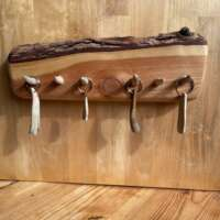 Pine Wood and Antler Key Rack thumbnail