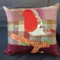 Decorative Robin Pillow Cushion thumbnail