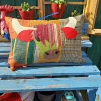 Decorative Highland Cow Pillow Cushion thumbnail