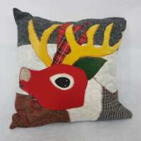 Decorative Stag Pillow Cushion thumbnail