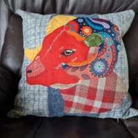 Decorative Highland Sheep Pillow Cushion thumbnail
