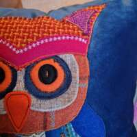 Decorative Velvet Owl Pillow Cushion thumbnail