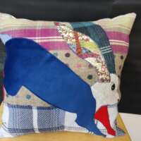 Decorative Hare Pillow Cushion Large thumbnail