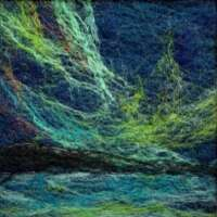 Northern Lights Felted Painting thumbnail