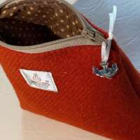 Orange Harris Tweed Handy Bag thumbnail