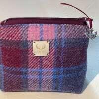 Pink and Purple Harris Tweed Handy Bag thumbnail