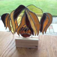 Stained Glass Highland Cow Tealight thumbnail