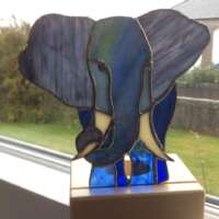 Stained Glass Elephant Tealight thumbnail