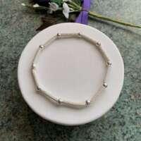 Sterling Silver Foil Bead Bracelet thumbnail