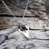 Black Star Diopside Stag Necklace thumbnail