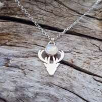 Blue Moonstone Stag Necklace thumbnail