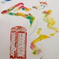 Telephone Kiosk and Croft Print thumbnail