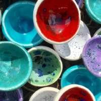 Earthenware Glazed Thumb Pots thumbnail
