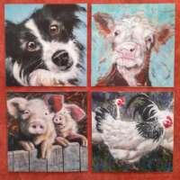 Set of 8 Animal Notelets thumbnail
