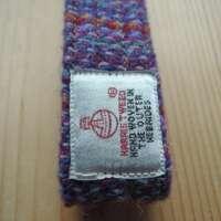 Purple Rainbow Harris Tweed Key Fob thumbnail