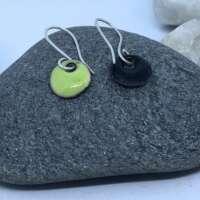 Light Green Enamel Earrings thumbnail