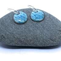 Turquoise Enamel Earrings thumbnail