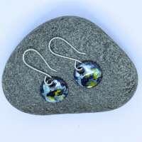 Abstract Round Enamel Earrings thumbnail