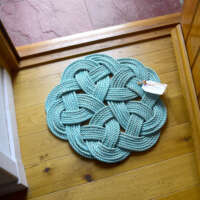 Kringle Floor Mat in Turquoise with Pink Fleck thumbnail