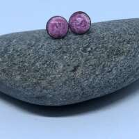Pink Enamel Stud Earrings thumbnail