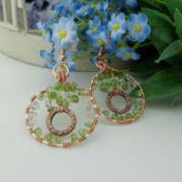 Peridot and Prasiolite Hoop Earrings thumbnail