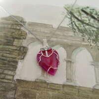 Pink Agate Fairy Pendant thumbnail