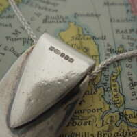 Handcrafted Silver Leaf Pendant thumbnail