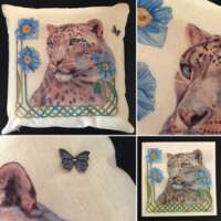 Snow Poppies Cushion Cover and Card Set thumbnail