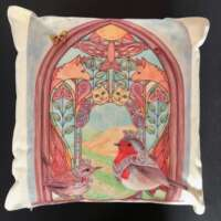 Robin and Wren Cushion Cover and Card Set thumbnail