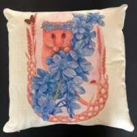 Hazel Doormouse Cushion Cover and Card Set thumbnail