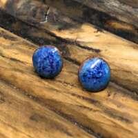 Blue Multi-Tone Enamel Earrings thumbnail