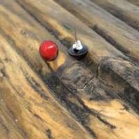 Red Enamel Earrings thumbnail