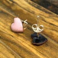 Light Pink Heart Enamel Earrings thumbnail