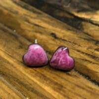 Multi Tone Pink Heart Enamel Earrings thumbnail