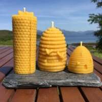 Celtic Beeswax Bee Skep Candle Collection thumbnail